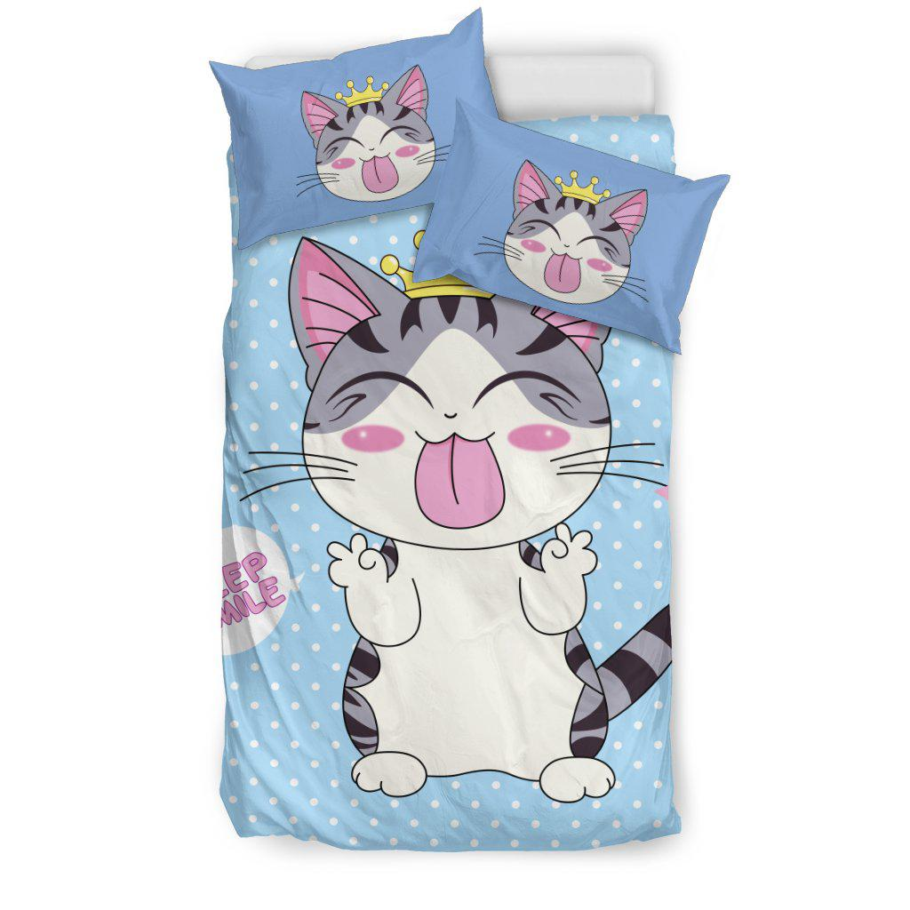 Shopeholic:Cat Smile Bedding Set