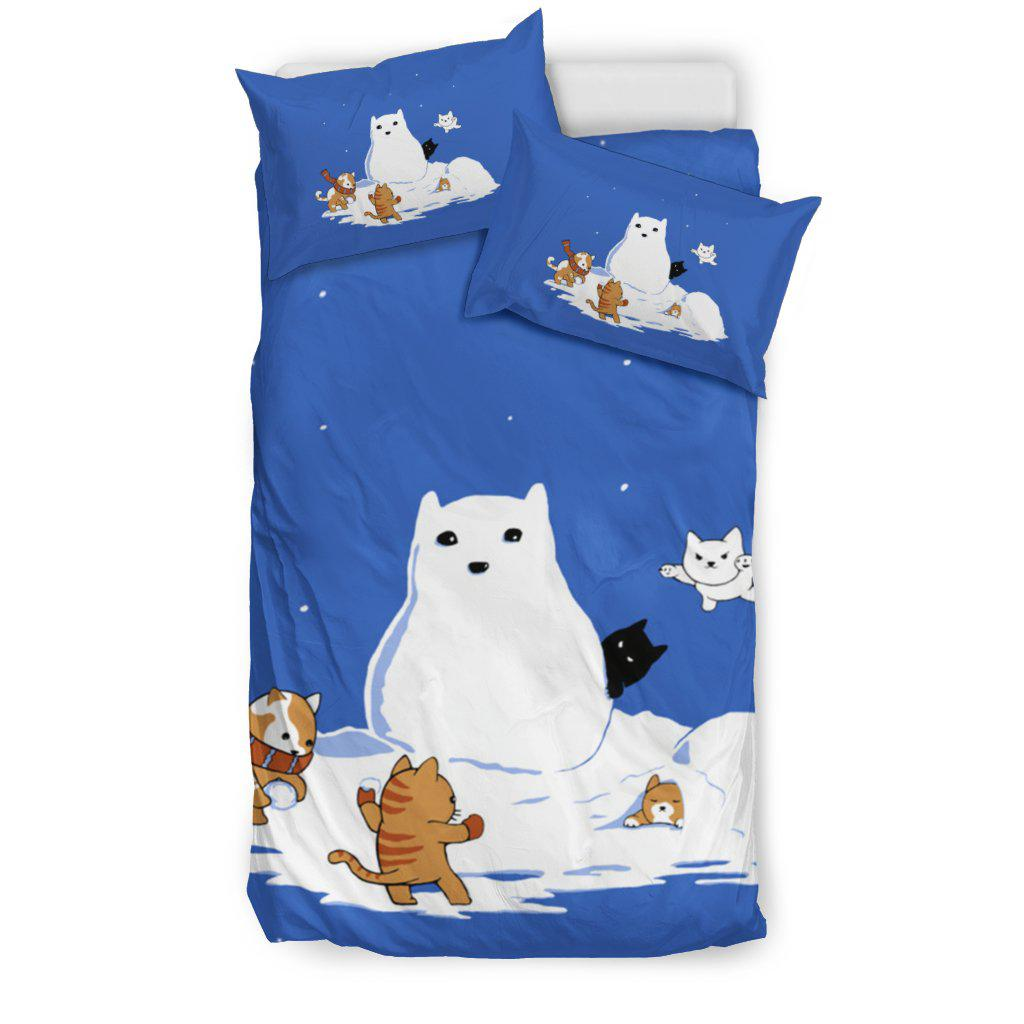 Shopeholic:SNOW CAT BEDDING SET