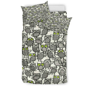 Shopeholic:Owl Doodles Bedding Set
