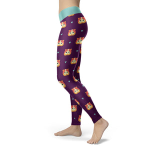 Cats - Purple Cat Leggings