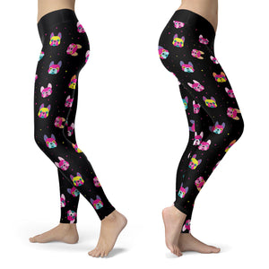 Dogs - Neon Pitbull Leggings