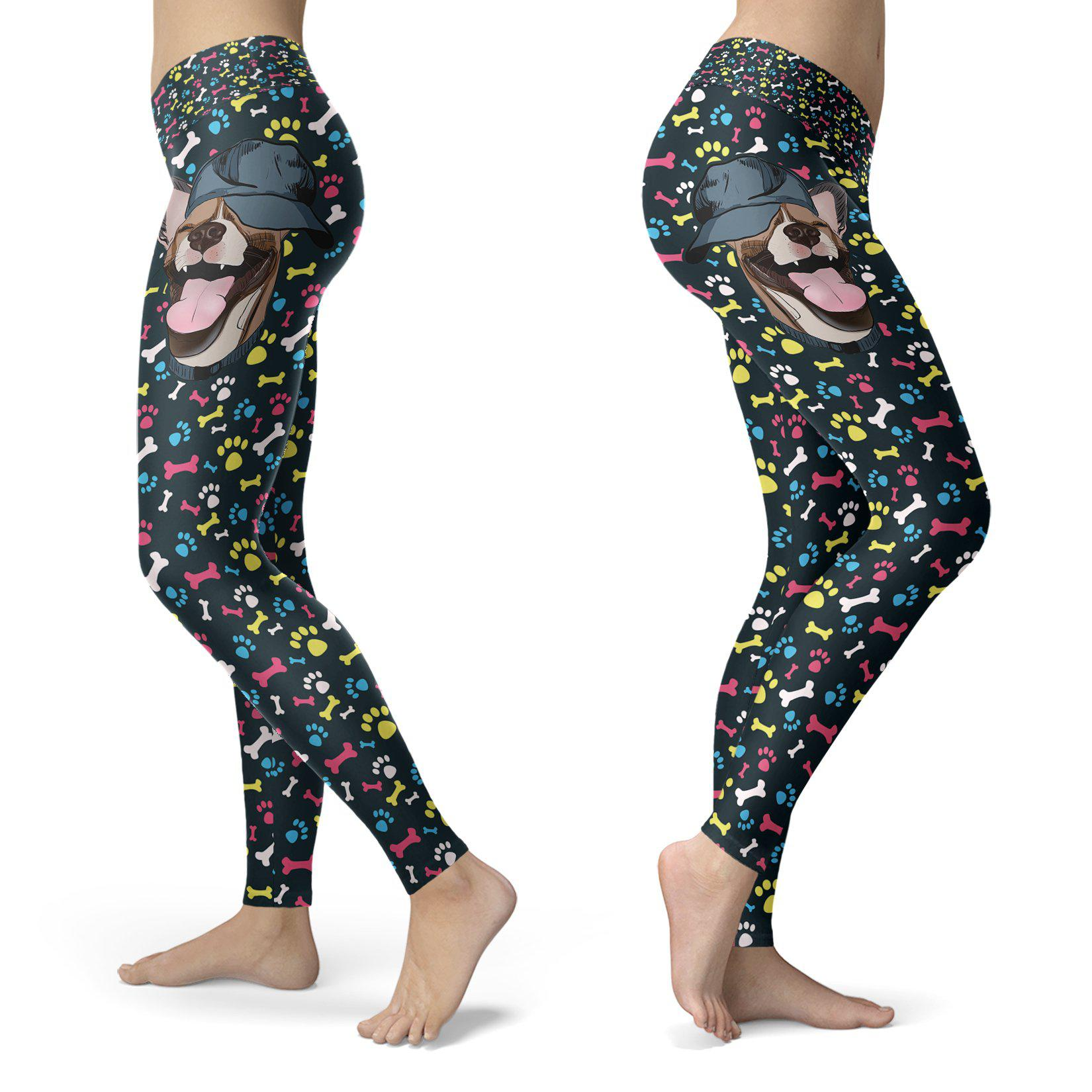 Dogs - Happy Dog with Hat Leggings