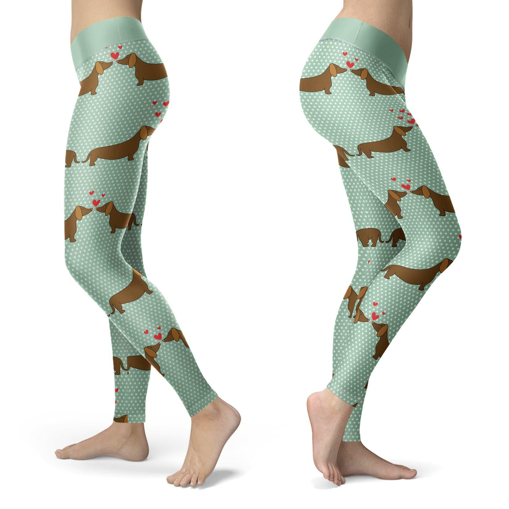 Dogs - Dachshund Love Leggings