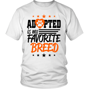 Adopted Is My Favorite Breed Apparels-District Unisex Shirt-DT6000-Shopeholic