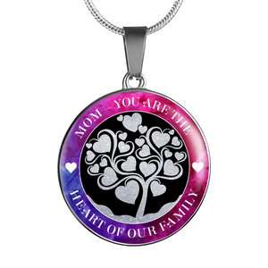 Shopeholic:Heart Of Our Family - Round Pendant Luxury Jewelry
