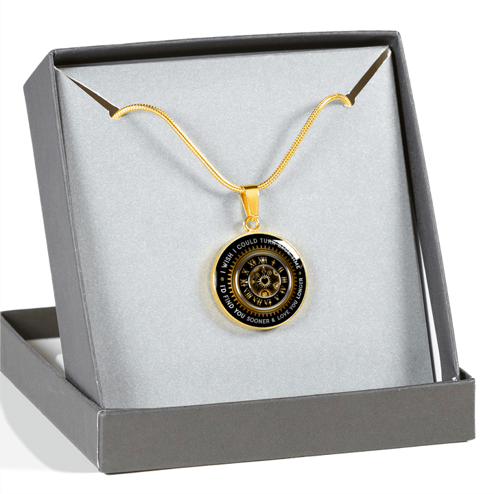 Shopeholic:Turn Back Time - Round Pendant Luxury Jewelry