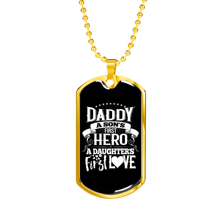 Shopeholic:Daddy...First Hero - Dog Tag