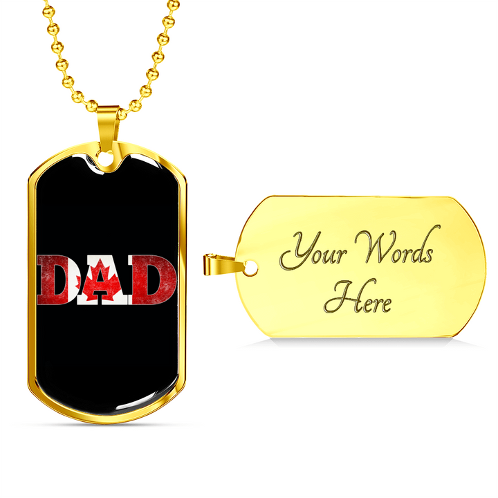 Shopeholic:Canada Dad - Dog Tag