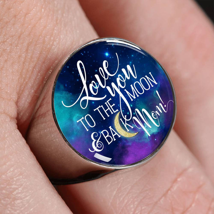 Shopeholic:Love You To The Moon & Back Ring