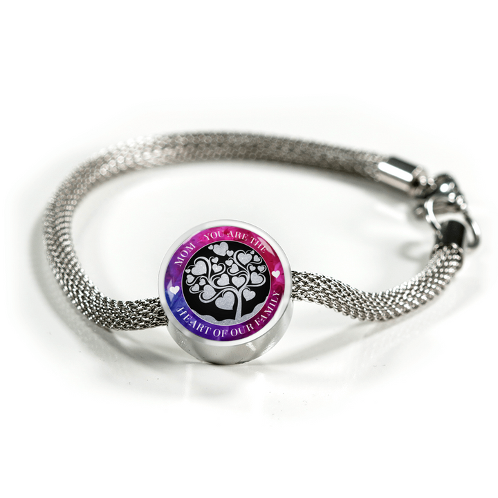 Heart of the Family - Round Pendant Luxury Bracelet