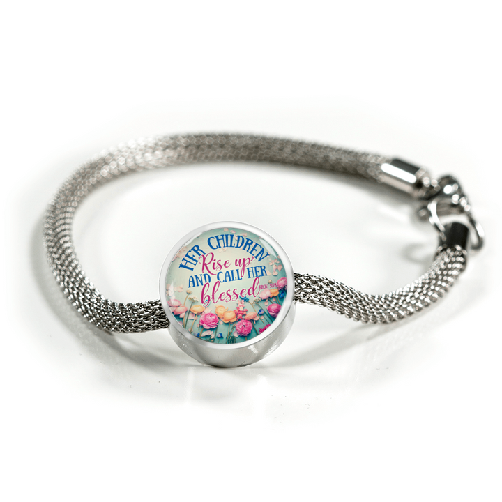 Her Children Rise Up - Round Charm Luxury Bracelet