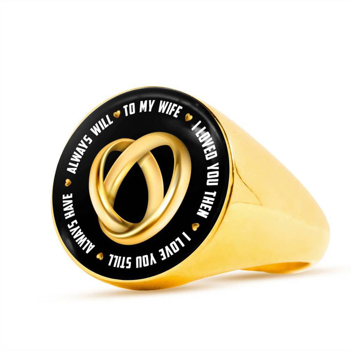 Shopeholic:To My Wife Ring