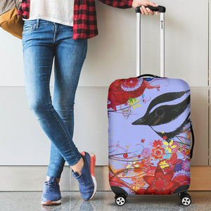 Bird and Flowers Luggage Cover-Shopeholic