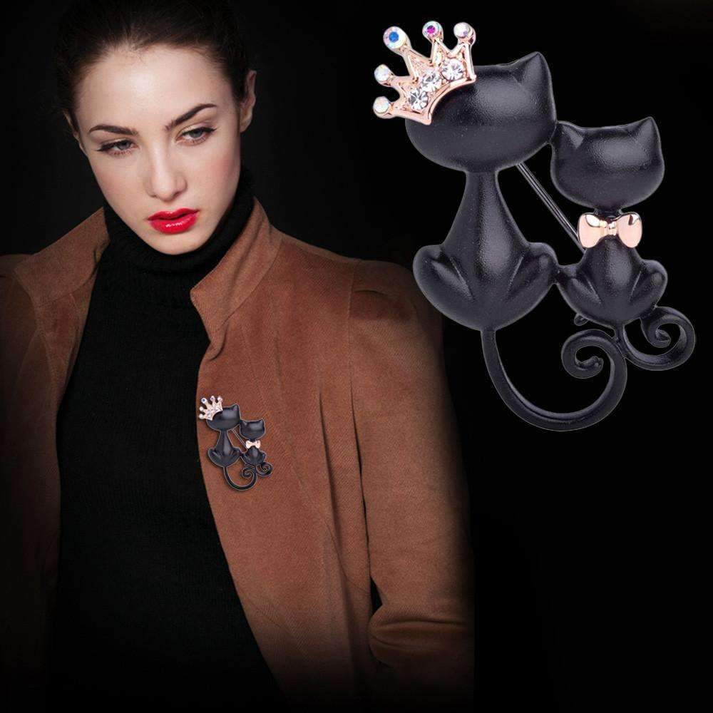 Black Cats Brooch-YJL70719761-Shopeholic