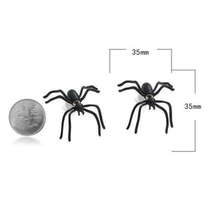 Black Spider Stud Earrings-Shopeholic