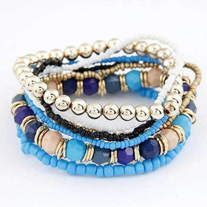 Boho Bracelet set-Dark Blue-XZQ50611381C-Shopeholic