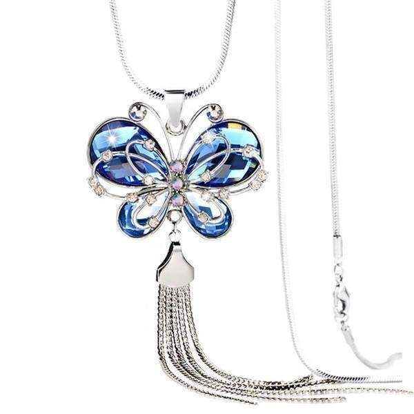 Shopeholic:Butterfly Charm Necklace