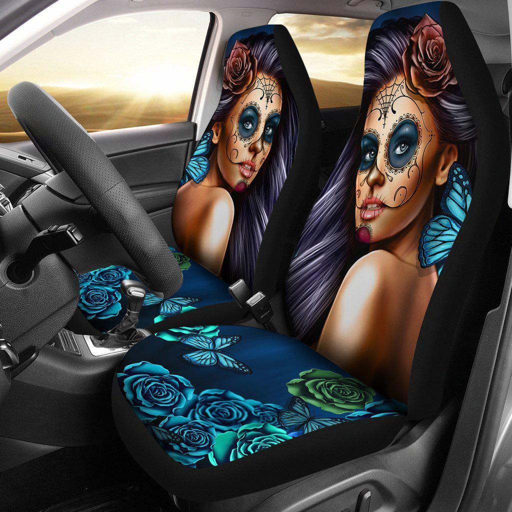 Calavera Girl - Car Seat Covers-car seat covers-PP.5431613-Car Seat Covers - Calavera Girl - Car Seat Covers-Shopeholic