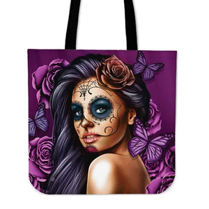 Shopeholic:Calavera Girl - Cloth Tote Bags
