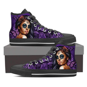 Shopeholic:Calavera Girl Women's High Top Canvas Shoes