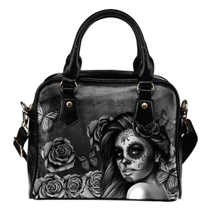 Calavera Girl - Shoulder Handbags-Calavera Girl - Black & White-PP.1919811-Shopeholic