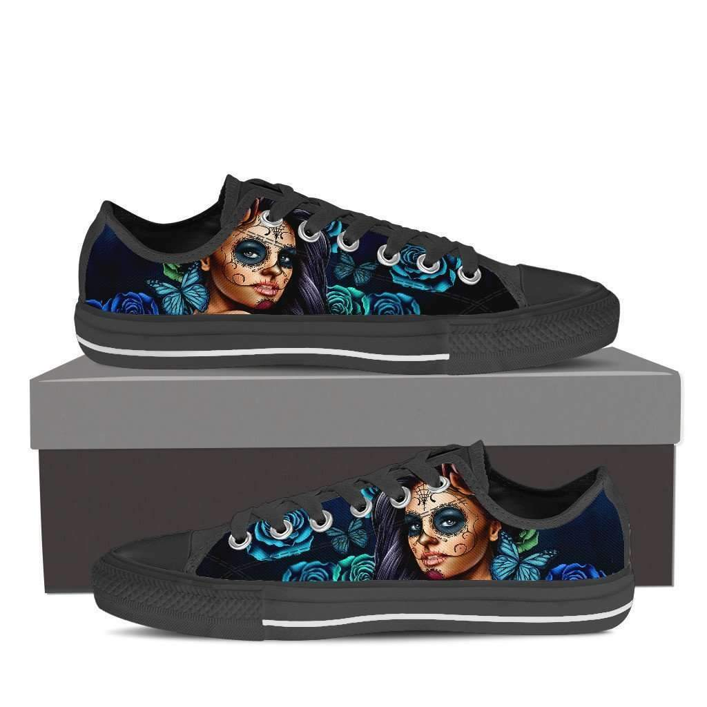 calavera girl - women's low top canvas shoes - shopeholic