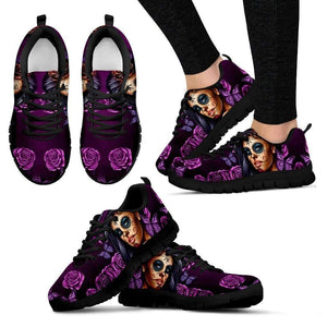 Shopeholic:Calavera Girl Women's Sneakers