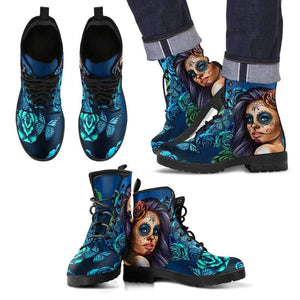 Calavera MEN's Leather Boots-Men's Leather Boots - Black - Calavera Blue-PP.3647583-Shopeholic