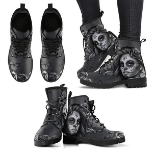 Shopeholic:Calavera Women's Leather Boots