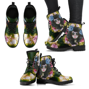 Shopeholic:Day Of The Dead Women's Handcrafted Boots