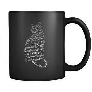 Shopeholic:Cat Lovers Black Mug 11oz