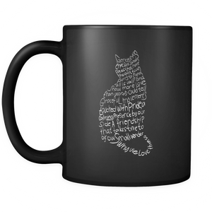 Cat Lovers Black Mug 11oz-Shopeholic