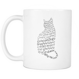 Cat Lovers White Mug 11oz-Shopeholic