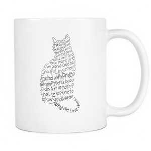 Shopeholic:Cat Lovers White Mug 11oz