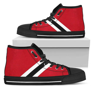 Chicago Fan - Men's High Top Canvas Shoes-Mens High Top - Black - Chicago Fan - Black-PP.2697100-Shopeholic