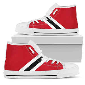 Chicago Fan - Men's High Top Canvas Shoes-Mens High Top - White - Chicago Fan - White-PP.2697109-Shopeholic