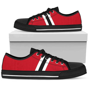 Chicago Fan - Men's Low Top Canvas Shoes-Mens Low Top - Black - Chicago Fan - Black-PP.2722083-Shopeholic