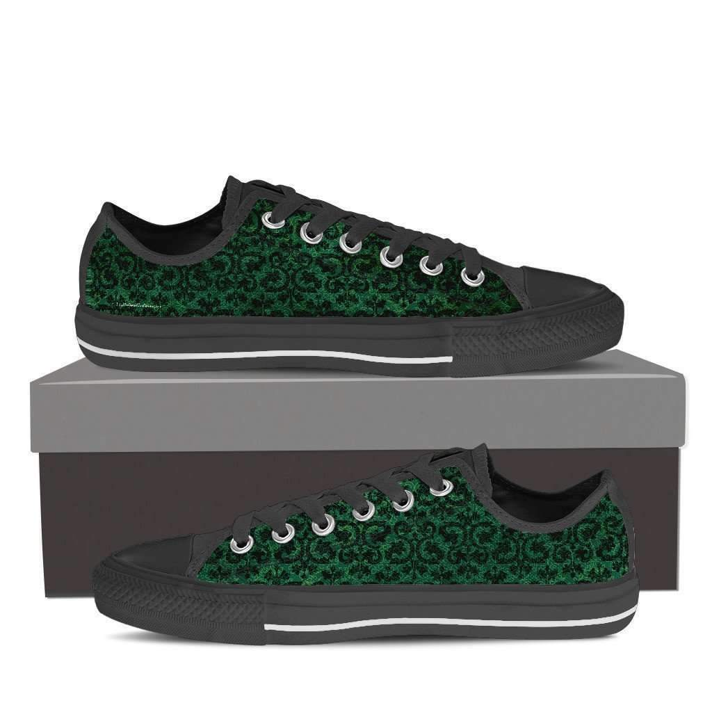Classical - Women's Low Top Canvas Shoes-Womens Low Top - Black - Classical 1 - Green-PP.1451993-Shopeholic