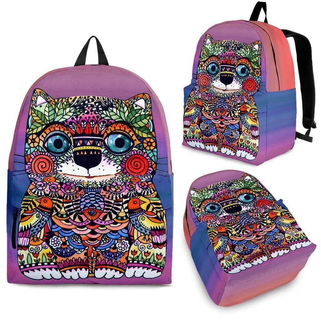 Colorful Happy Cat Backpack-Shopeholic