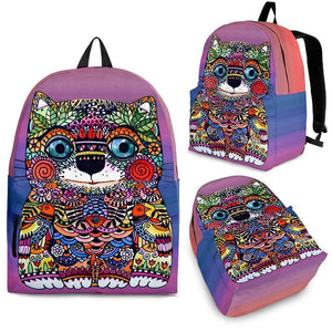 Shopeholic:Colorful Happy Cat Backpack