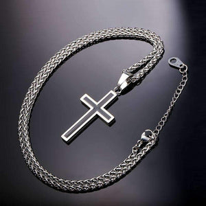 Cross Pendant Necklace-Silver-Cross Pendant Necklace-2-Shopeholic