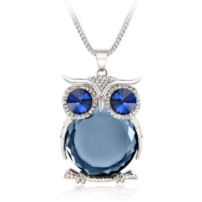 Crystal owl pendant necklace shopeholic crystal owl pendant necklace silver gray crystal owl pendant necklace 3 shopeholic aloadofball Choice Image