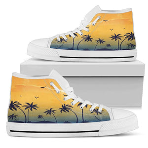 De Costa - Men's High Top Canvas Shoes-Mens High Top - White - De Costa - 2-PP.2541482-Shopeholic