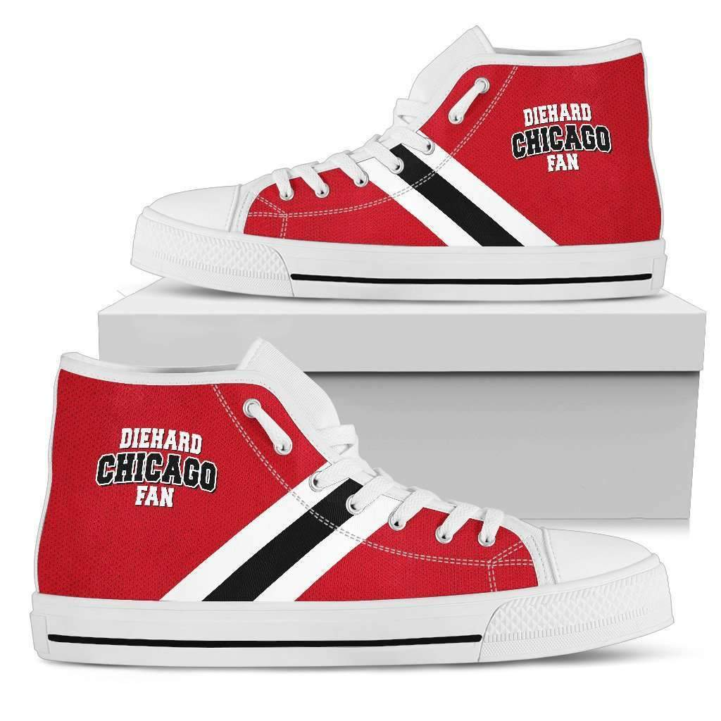 Shopeholic:Die Hard Chicago Fan - Men's High Top Canvas Shoes