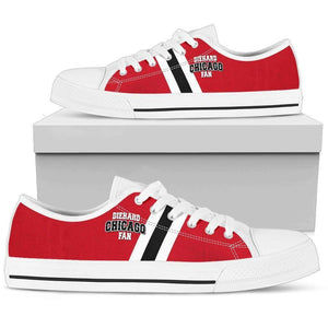DieHard Chicago Fan - Men's Low Top Canvas Shoes-Mens Low Top - White - DieHard Chicago Fan - White-PP.2721962-Shopeholic