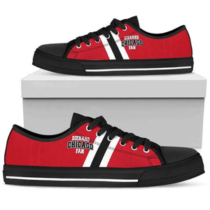 DieHard Chicago Fan - Men's Low Top Canvas Shoes-Mens Low Top - Black - DieHard Chicago Fan - Black-PP.2721971-Shopeholic