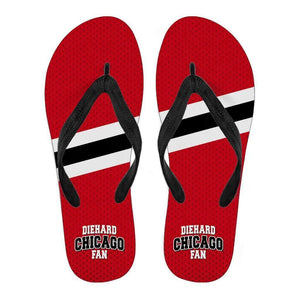 DieHard Chicago Fan - Men/Women Flip Flops-Men's Flip Flops - Black - DieHard Chicago Fan - Men - Black-PP.2709959-Shopeholic