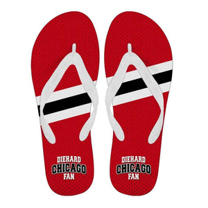 DieHard Chicago Fan - Men/Women Flip Flops-Men's Flip Flops - White - DieHard Chicago Fan - Men - White-PP.2709963-Shopeholic