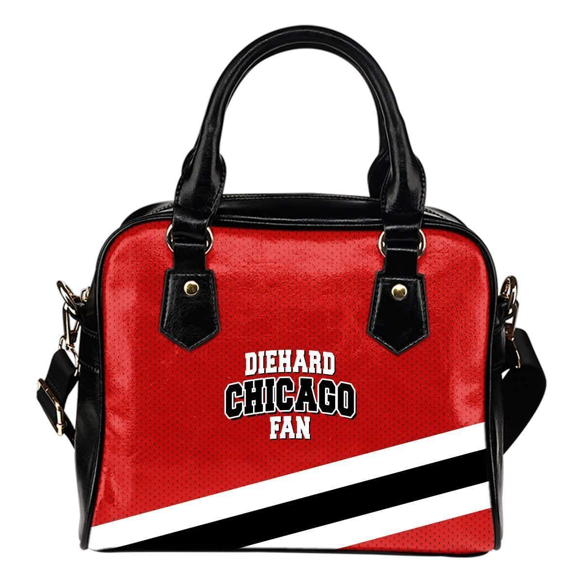 Shopeholic:DieHard Chicago Fan - Shoulder Handbag