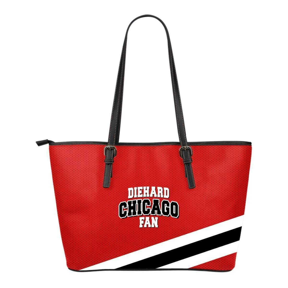 DieHard Chicago Fan Small Leather Tote Bag-Shopeholic